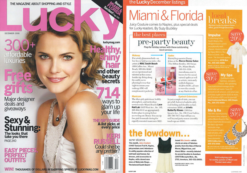 Lucky Magazine features Danny Jelaca's Pre-Party Up-do's