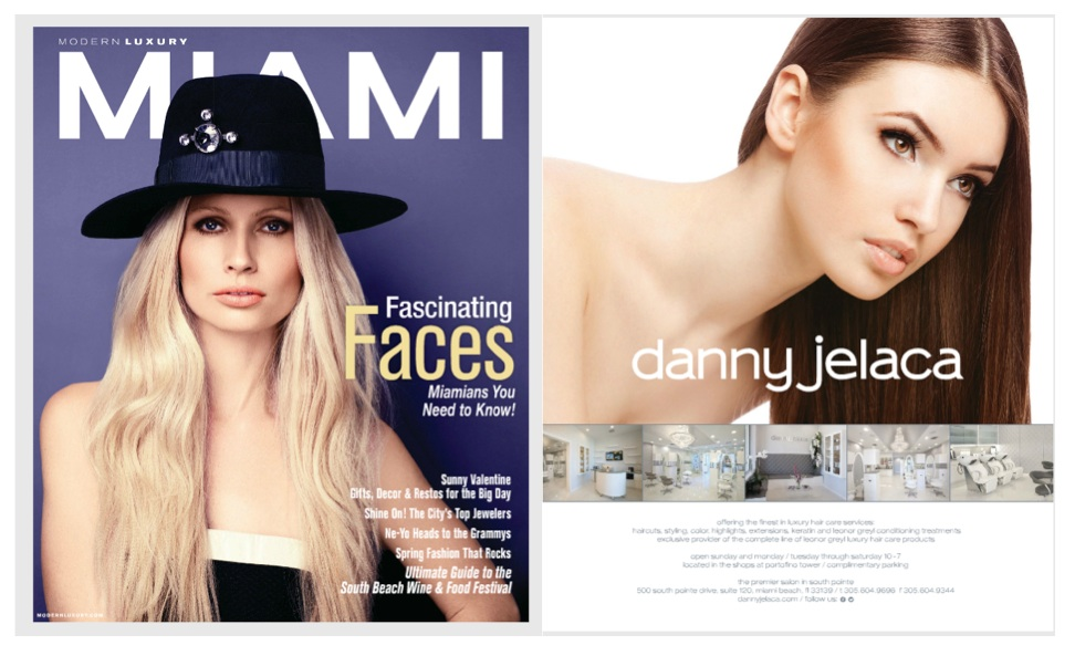 Danny Jelaca Salon in Miami Magazine