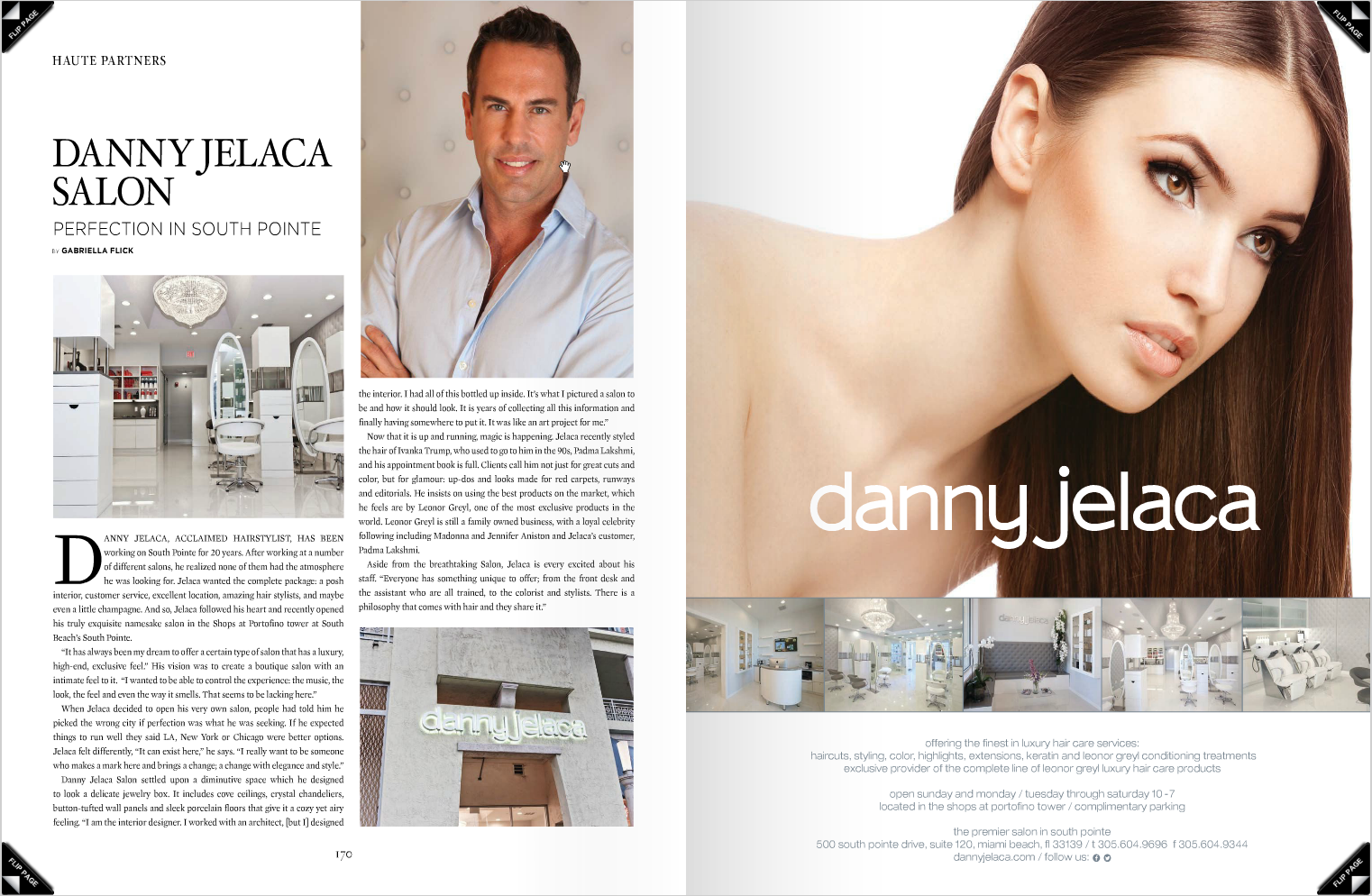 Danny Jelaca Spread in the Latest Haute Living