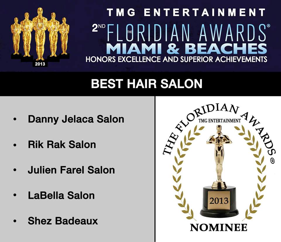 Danny Jelaca has been nominated for Best Salon 2013 Floridian Awards!