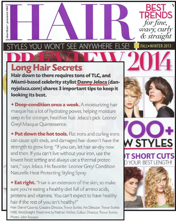 Hair Magazine features danny jelaca in Fall/Winter 2013