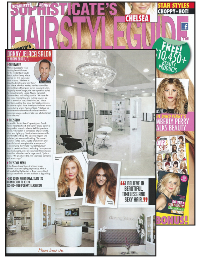 Danny Jelaca Is featured in Sophisticate's Hairstyle Guide