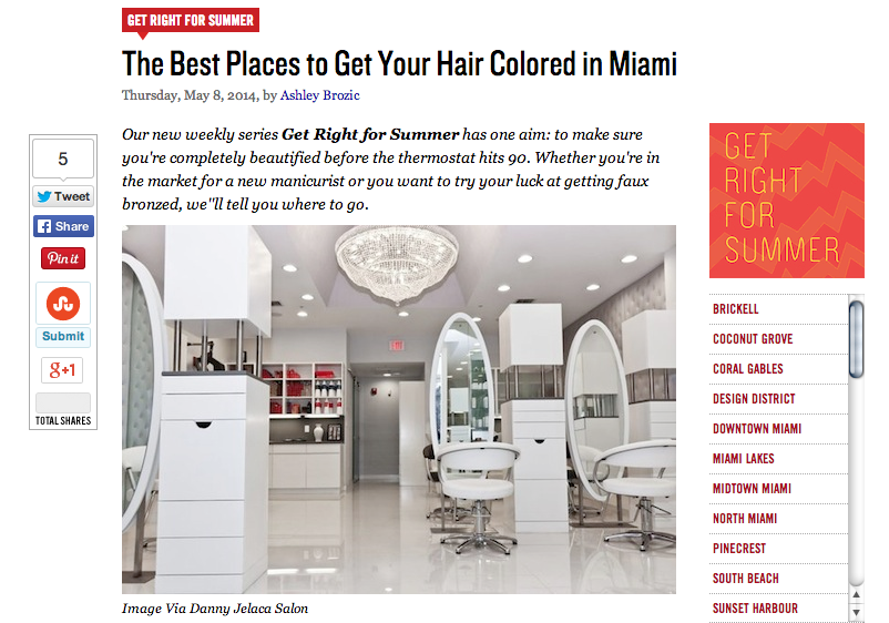 Best Place to Get Your Hair Colored in Miami