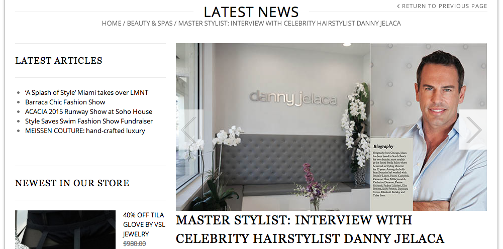 Danny Jelaca in Le City Deluxe Magazine