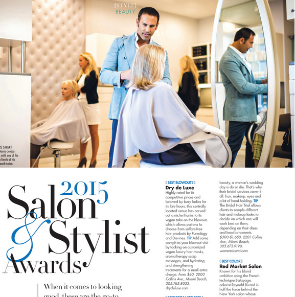 Danny Jelaca 2015 Salon and Stylist Awards in Modern Luxury Magazine