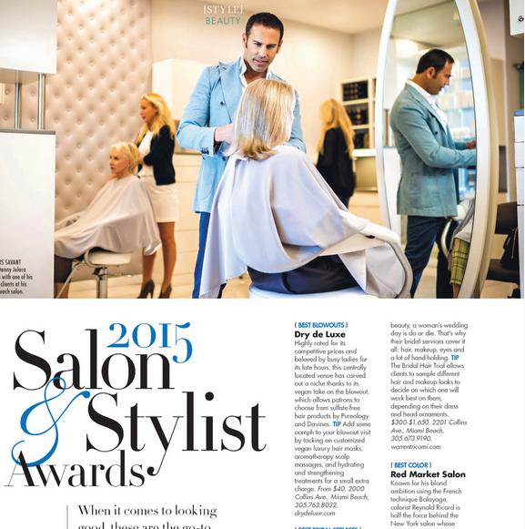 Danny Jelaca 2015 Salon and Stylist Awards in Modern Luxury Magazine