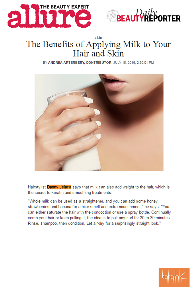 Allure Beauty Expert Tips Benefits of Applying Milk to Your Hair and Skin