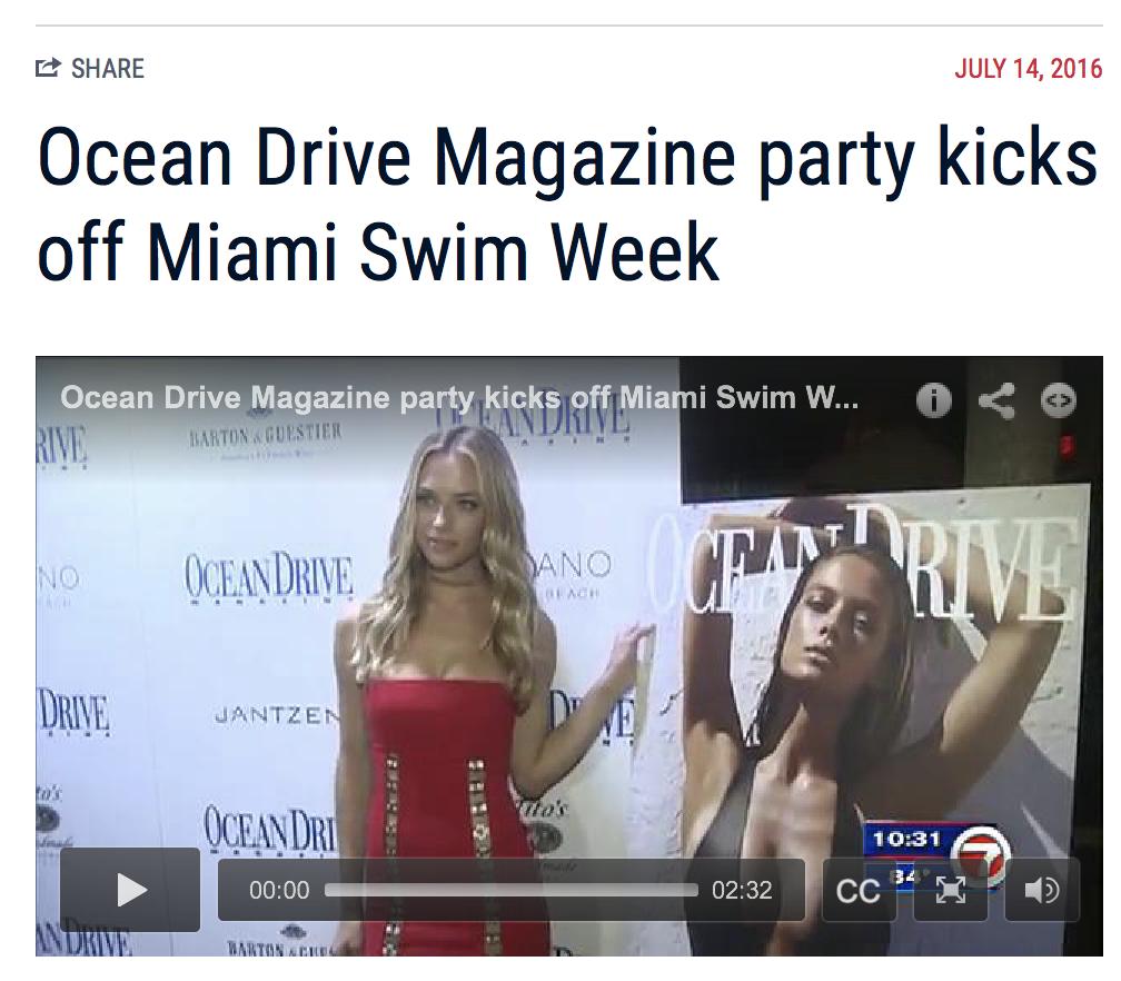 Danny Jelaca styles Ocean Drive Magazine cover model Hannah Ferguson